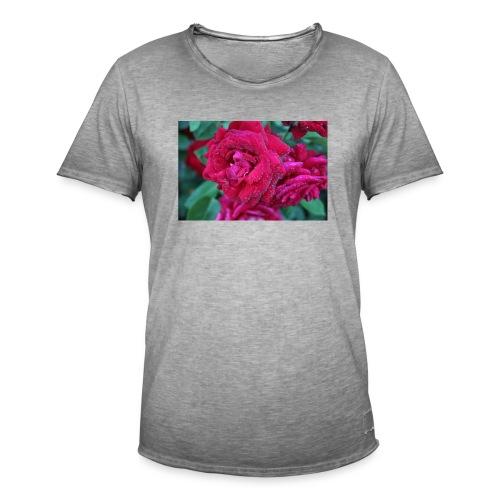 Rosa preciosa - Camiseta vintage hombre