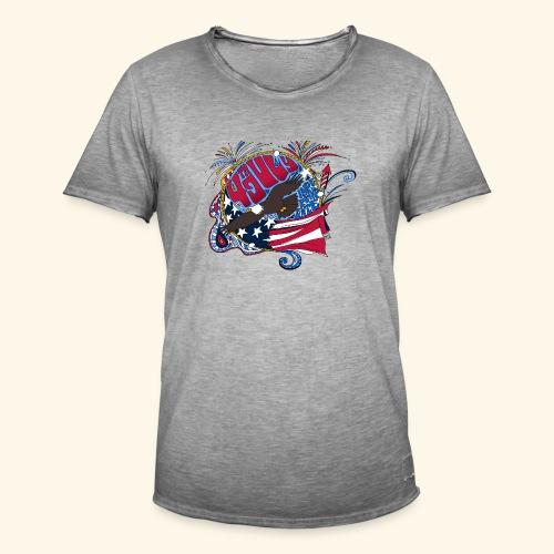 4jul - Camiseta vintage hombre