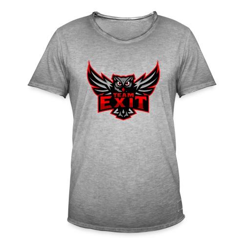 EXIT2 - Vintage-T-skjorte for menn