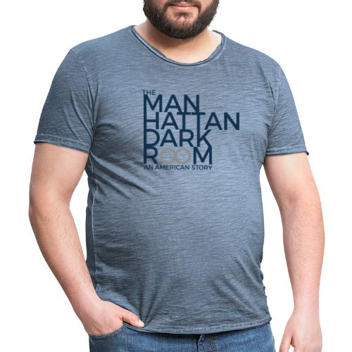 THE MANHATTAN DARKROOM BLEU GRIS - T-shirt vintage Homme