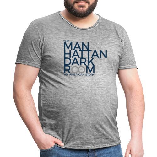 THE MANHATTAN DARKROOM BLUE GRAY - Men's Vintage T-Shirt