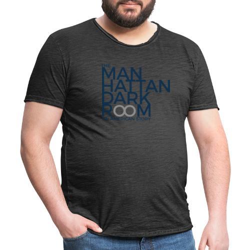 THE MANHATTAN DARKROOM BLEU GRIS - T-shirt vintage Homme