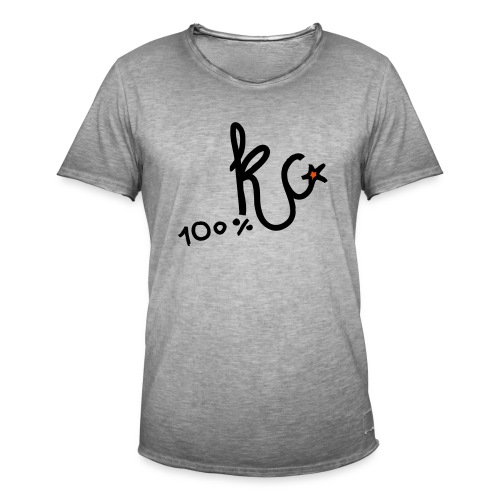 100%KC - Mannen Vintage T-shirt