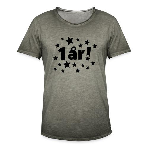 1 år! - Vintage-T-skjorte for menn