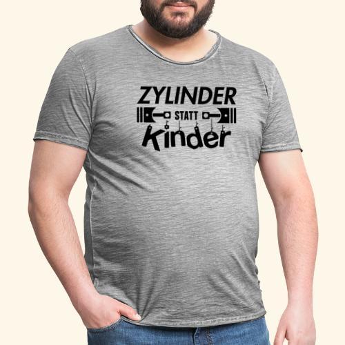 Zylinder Statt Kinder - Männer Vintage T-Shirt