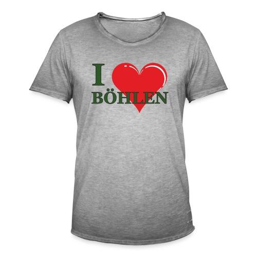 Ich liebe Böhlen. - Männer Vintage T-Shirt