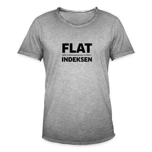 Jeg legger meg flat - Vintage-T-skjorte for menn