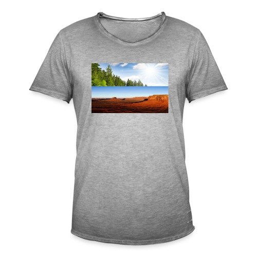 free world - Männer Vintage T-Shirt