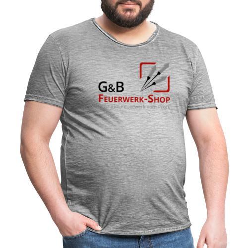 G & B Feuerwerk Shop Logo - Männer Vintage T-Shirt