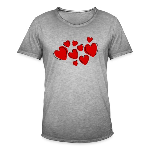hearts herzen - Männer Vintage T-Shirt