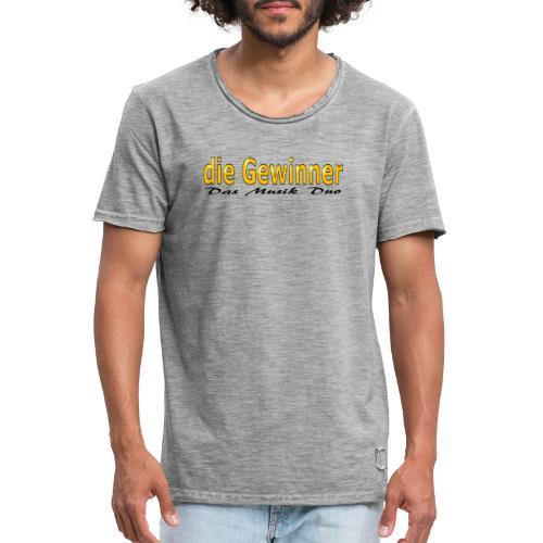 Das Moderne Schwarze - Männer Vintage T-Shirt