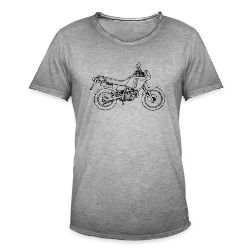 NX250 zijaanzicht zwart - Mannen Vintage T-shirt