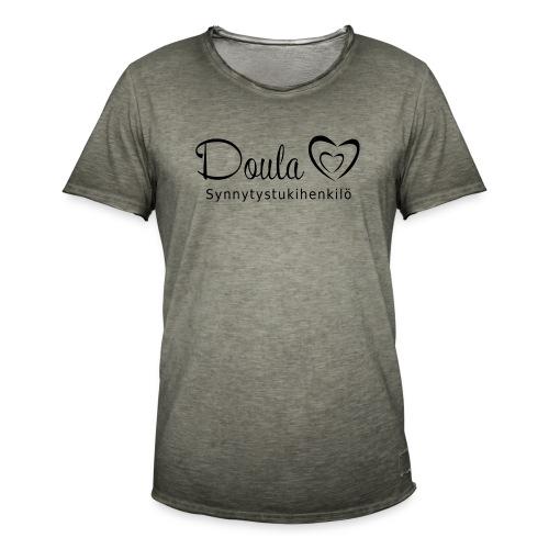 doula sydämet synnytystukihenkilö - Miesten vintage t-paita