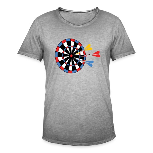 Dartboard with Darts - Mannen Vintage T-shirt