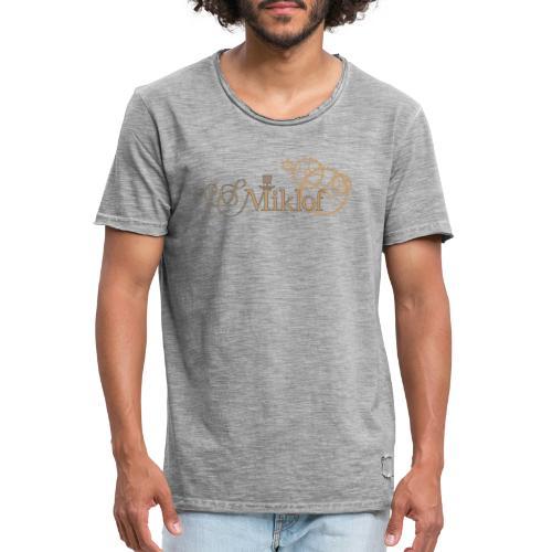 miklof logo gold outlined 3000px - Men's Vintage T-Shirt
