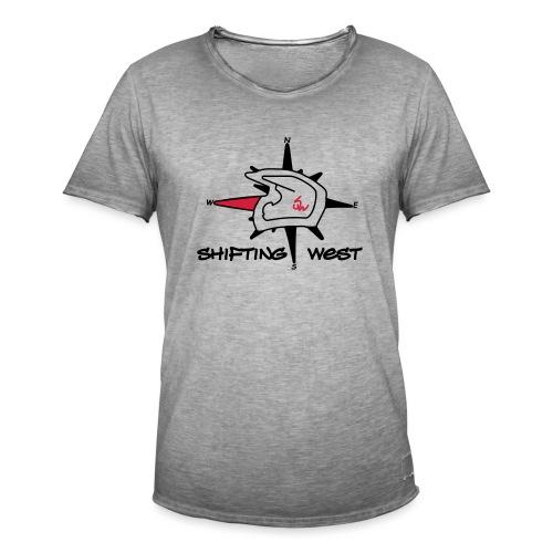 Shifting West Logo vector - Mannen Vintage T-shirt