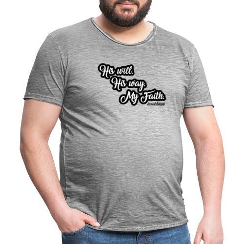 Way Will Faith Art Tee - Männer Vintage T-Shirt