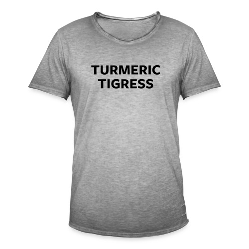 Turmeric Tigress - Men's Vintage T-Shirt