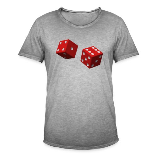 Tärning - Vintage-T-shirt herr