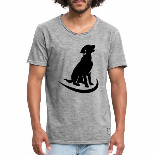 siluetta perro - Camiseta vintage hombre