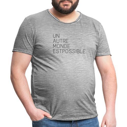unautre monde - T-shirt vintage Homme