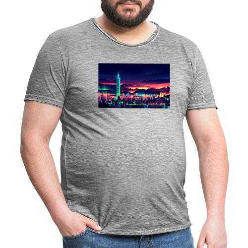 Neon city 1.0 - Herre vintage T-shirt