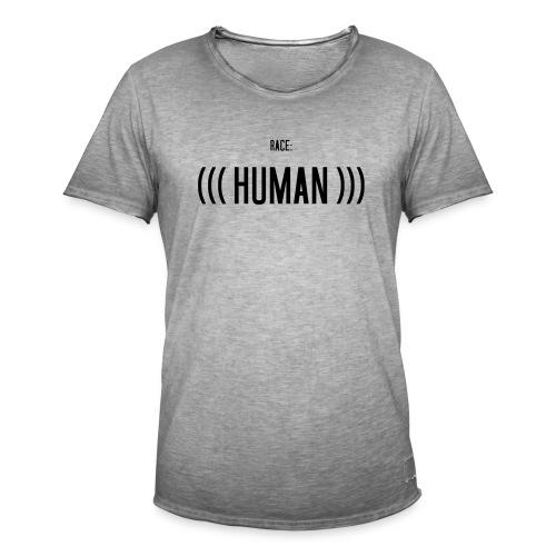 Race: (((Human))) - Männer Vintage T-Shirt