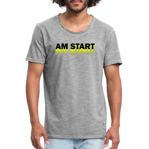 am Start - gelb schwarz faded - Männer Vintage T-Shirt