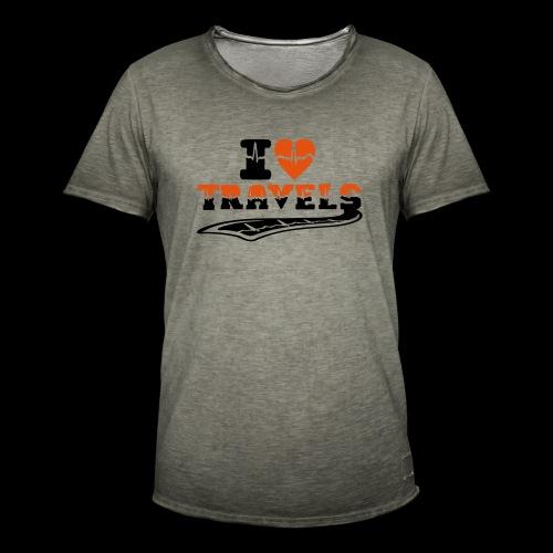 i love travels surprises 2 col - Men's Vintage T-Shirt