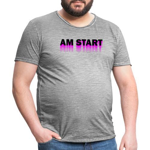 am Start - pink schwarz faded - Männer Vintage T-Shirt