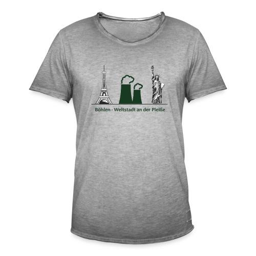 Weltstadt Böhlen - Männer Vintage T-Shirt