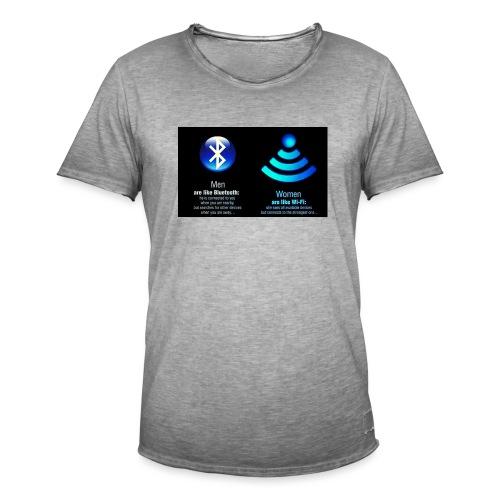 WIFI - Mannen Vintage T-shirt