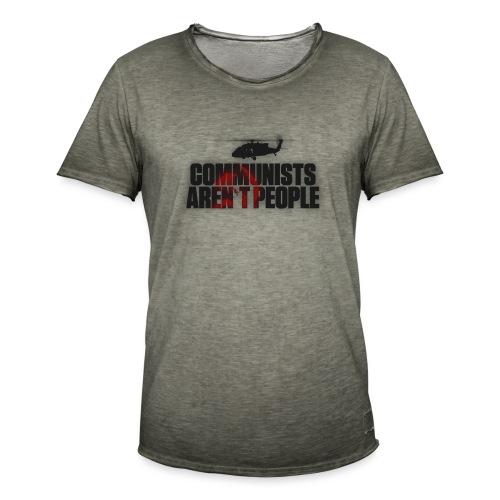 Communists aren't People (No uzalu logo) - Men's Vintage T-Shirt