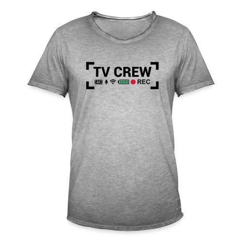 TV Crew - Maglietta vintage da uomo