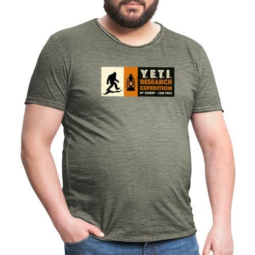 A la recherche du Yeti - T-shirt vintage Homme