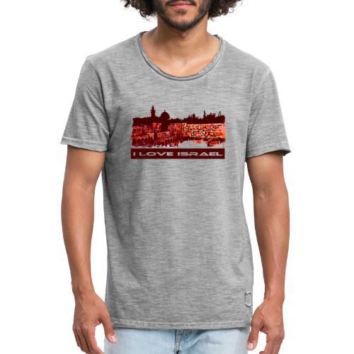 Jerusalem - I love Israel, Sunset-Motiv - Männer Vintage T-Shirt