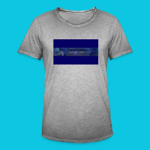 buismat bleu - Mannen Vintage T-shirt