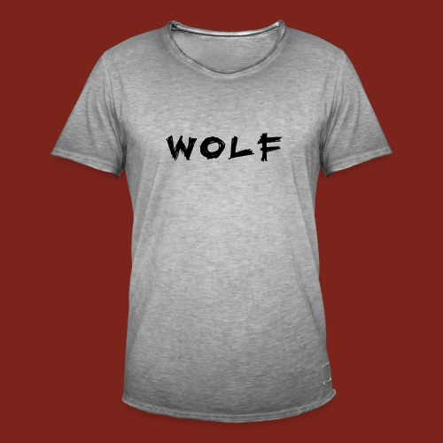 Wolf Font png - Mannen Vintage T-shirt