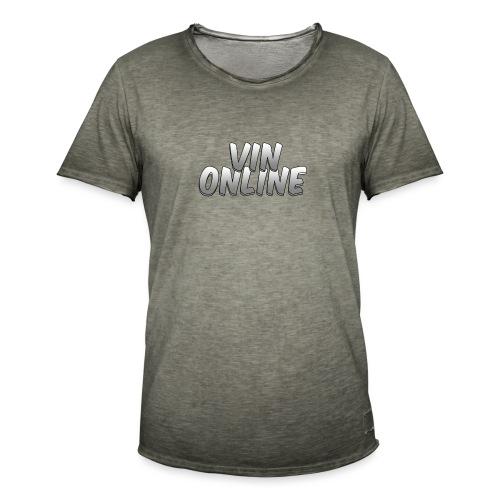 VinOnline - Mannen Vintage T-shirt