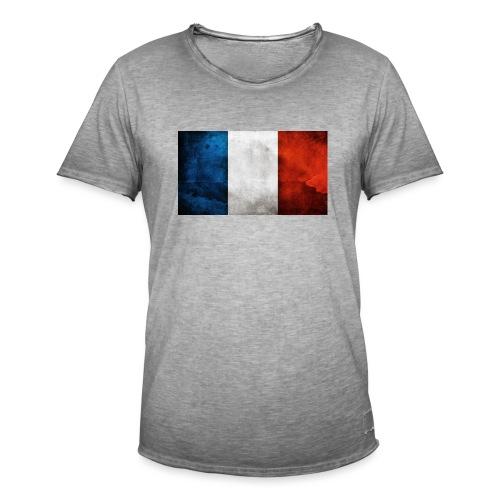 France Flag - Men's Vintage T-Shirt