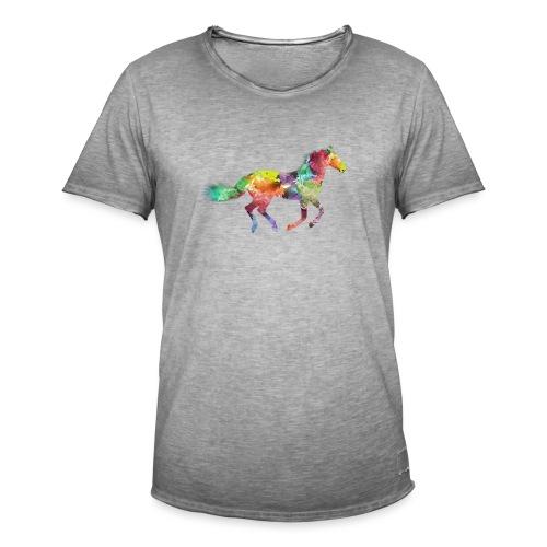 Cheval multicolore - T-shirt vintage Homme