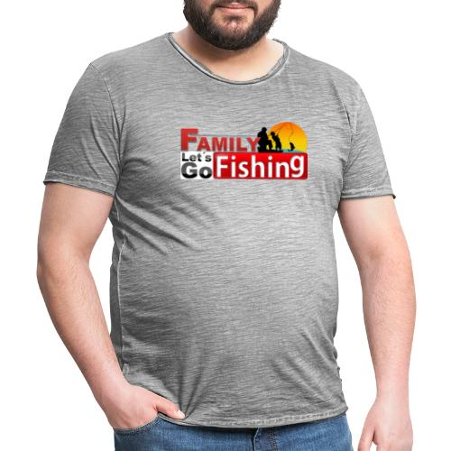 FAMILY LET´S GO FISHING FONDO - Camiseta vintage hombre