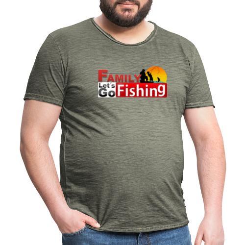 FAMILY LET´S GO FISHING FONDO - Camiseta vintage hombre