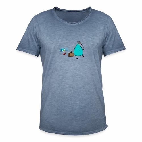 plectrumblauw - Mannen Vintage T-shirt