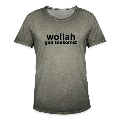 Wollah Gun Toekomst - Mannen Vintage T-shirt