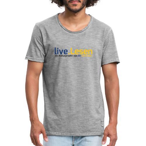 live.Lesen Logo - Männer Vintage T-Shirt