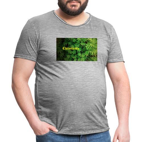 Christiania Hash Logo - Herre vintage T-shirt