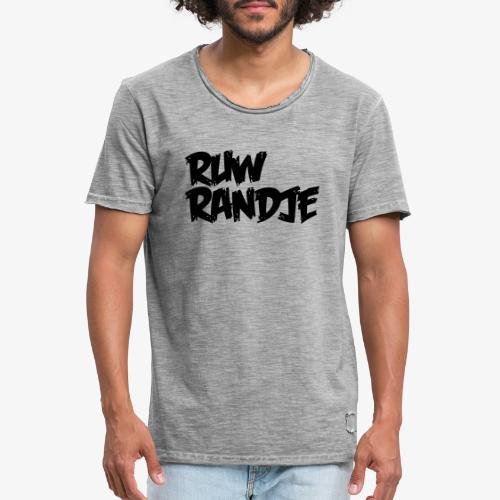 Ruw Randje - Mannen Vintage T-shirt