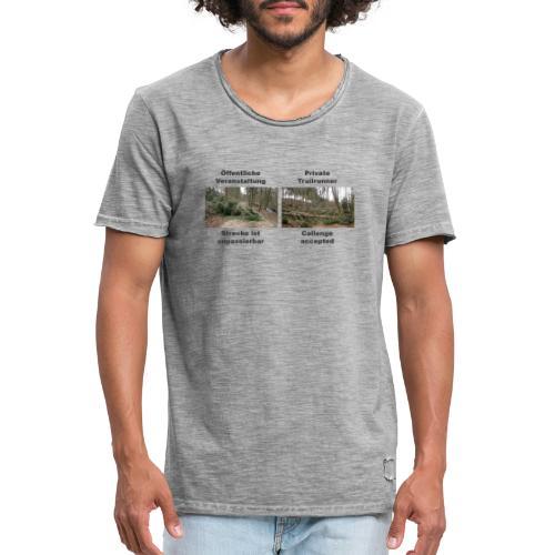 Trailrun Challenge - Männer Vintage T-Shirt