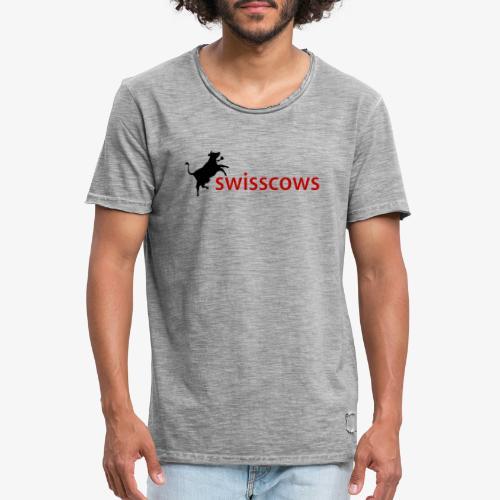 Swisscows - Männer Vintage T-Shirt